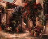 Garden Court Print by Art Fronckowiak