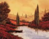 Silenzio Tra I Cipressi Prints by Guido Borelli