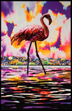 Flamingo Blacklight Poster Posters