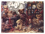 Teddy Bear Workshoppe Posters by Janet Kruskamp