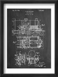Steam Locomotive Patent Reprodukcje
