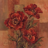 Poppies Terra Cotta Print by Barbara Mock