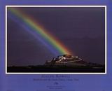 Rainbow Over The Potala Palace Print by Galen Rowell