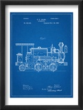 Train Locomotive Patent Posters