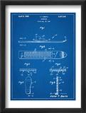 Early Snowboard Patent Plakát