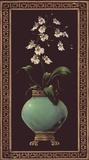 Ginger Jar With Orchids I Poster by Janet Kruskamp