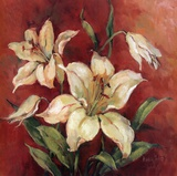 Crimson Lilies I Art by Barbara Mock