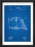 Steampunk Aerial Vessel 1893 Patent Plakat