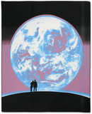 Earth Blacklight Tapestry Posters