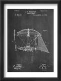 Steampunk Aerial Vessel 1893 Patent Umělecké plakáty