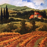 Tuscan Monastery Amidst Autumn Prints by Eva Szorc