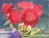 Red Bouquet Prints by Maret Hensick