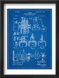 Diesel Engine Patent Plakaty