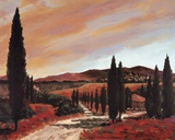 Tuscan Sunset II Prints by D.J. Smith