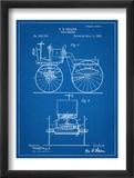 Antique Automobile Patent 1895 Reprodukcje