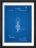 Thomas Edison Light Bulb Patent Reprodukce