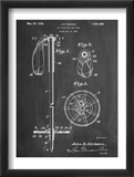 Ski Pole Patent Umění