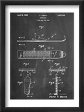 Early Snowboard Patent Poster