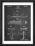 Early Snowboard Patent Schilderij
