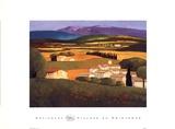 Village au Printemps Prints by Elisabeth Estivalet