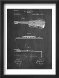 Acoustic Guitar Patent Plakaty