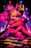 King & Queen Blacklight Reactive Poster Print