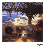 Bodrum Leyla's Terrace Posters by Berc Ketchian