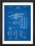 Trumpet Instrument Patent Kunstdruck