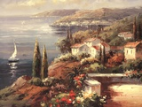 Mediterranean Vista Print by Peter Bell