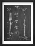 Dinner Fork Patent Reprodukcje
