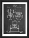 Antique Automobile Patent 1895 Plakat