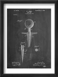 Golf Tee Patent Plakaty