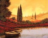 La Barca Al Tramanto Prints by Guido Borelli