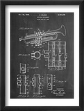 Trumpet Instrument Patent Posters