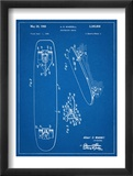 Vintage Skateboard Patent Plakaty