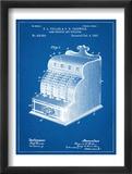 Cash Register Patent Affiches