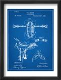 Horse Riding Saddle Patent Plakaty