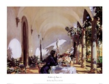 Breakfast In The Loggia Posters by John Singer Sargent