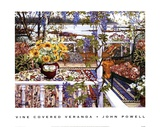 Vine Covered Veranda Prints by John Powell