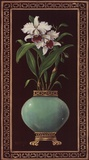 Ginger Jar With Orchids II Prints by Janet Kruskamp