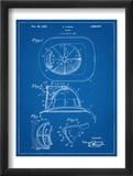 Firemen Helmet Patent Poster