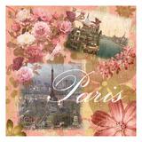 Paris Amour Coral Prints by Lauren Gibbons