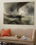 Snøstorm: Dampbåt i en havn Plakater av J. M. W. Turner