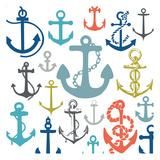 Coastal Anchors Prints by Melody Hogan