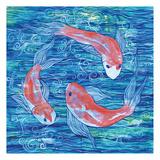 Circling Koi Prints by Pam Varacek