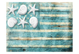 Coastal American Flag Prints by Jace Grey