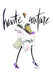 Haute Couture Purple Poster di Alicia Zyburt
