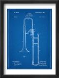 Slide Trombone Instrument Patent Obrazy