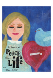A Heart At Peace 2 Posters by Cherie Burbach