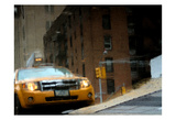NYC Taxi Puddle 0643 E Prints by Jeff Pica